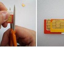 Przycinanie karty sim do iPhone 3