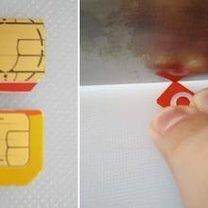 Przycinanie karty sim do iPhone 9