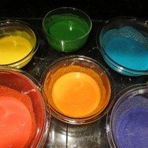 Ciasto z barwnikami