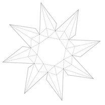 Diament z papieru krok 1