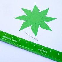 Diament z papieru krok 3
