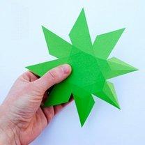 Diament z papieru krok 4
