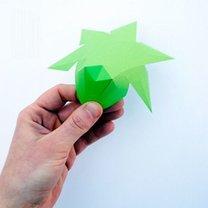 Diament z papieru krok 5