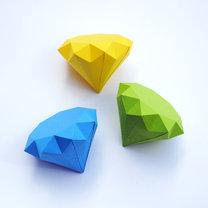 Diament z papieru krok 6