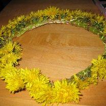 Wianek z kwiatów - mniszek lekarski