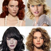 modne fryzury półdługie 2012 - loki