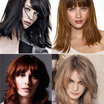 modne fryzury półdługie 2012 - grzywki