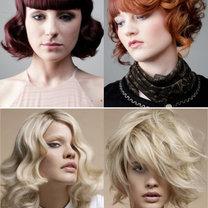 modne fryzury półdługie 2012 - retro