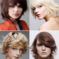 modne fryzury półdługie 2012 - cieniowanie