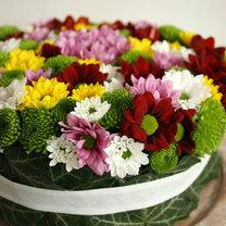 Tort z kwiatów krok 7