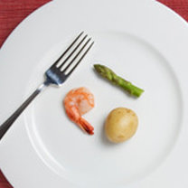 Małe porcje jedzenia