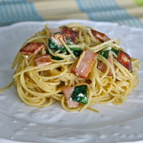 spaghetti carbonara light
