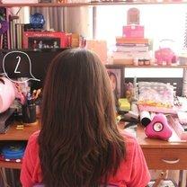 włosy ombre krok 2