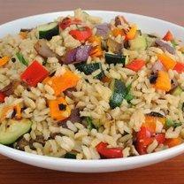 Ryż z grillowanymi warzywami