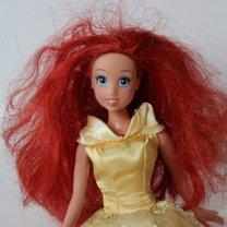 Czesanie włosów lalek krok 1