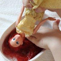 Czesanie włosów lalek krok 4