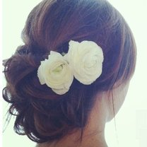 kwiatek do włosów