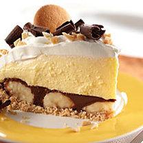 ciasto kremowe z bananami i masłem orzechowym