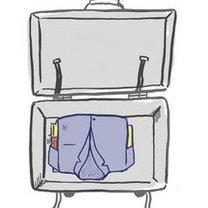 pakowanie ubrań w paczkę