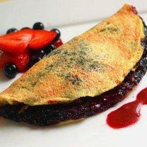 Omlet z jagodami