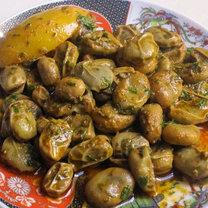 Marokańska sałatka z bobu