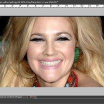 Wybielanie zębów na zdjęciu Photoshop