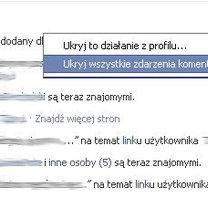 Ukrywanie aktywności na Facebooku 2