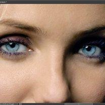 Zmiana koloru źrenic w Photoshop 3
