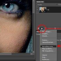 Zmiana koloru źrenic w Photoshop 5