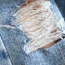 Ładnie podarte jeansy