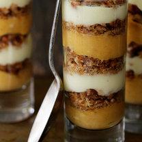 deser z dyni i puddingu waniliowego