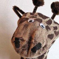 żyrafa ze skarpety - krok 6
