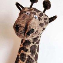 żyrafa ze skarpety