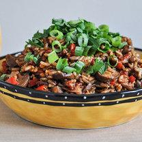Ryż z sosem mole