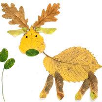 Jeleń z liści