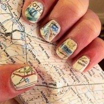 paznokcie w mapę