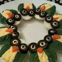 Jajka faszerowane - sowy