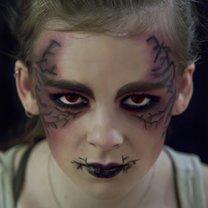 makijaż na halloween demon