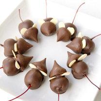 myszki z czekolady i wisienek