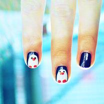 Pingwiny na paznokciach