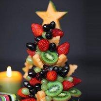 Choinka z owoców