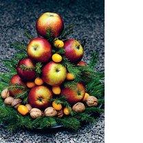 Choinka z jabłek