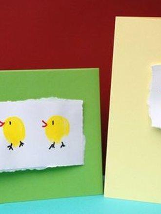 kartka wielkanocna z kurczaczkiem