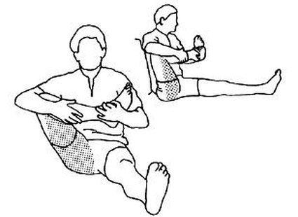 Ćwiczenie bioder i ud krok 1