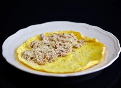 Omlet z pieczarkami i cebulą 14