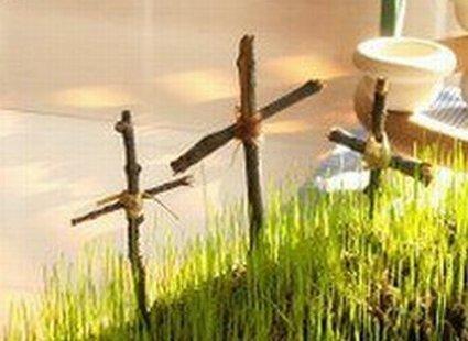 dekoracja wielkanocna - grób krok 4