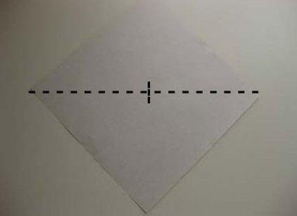 Kot origami krok 1
