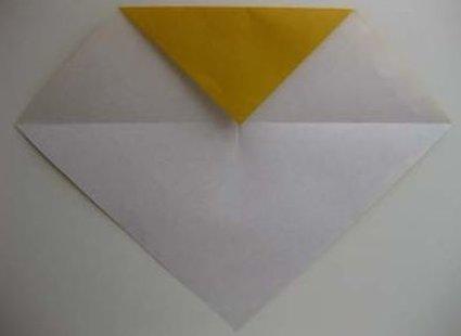 Kot origami krok 3