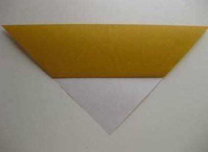 Kot origami krok 4