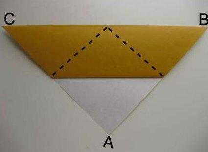 Kot origami krok 5